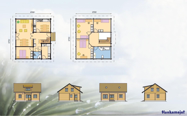 Maison En Bois Moselle hannele   maisons-150-200 m²   honkamajat   nos modèles